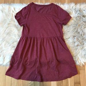Forever 21 Maroon Babydoll Dress